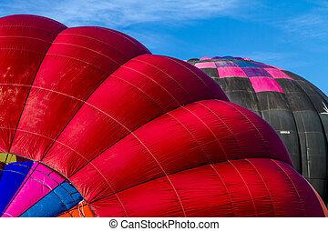 fest, sommer, heiß, balloon, luft