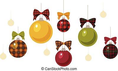 Christbaumkugeln Kariert.Muster Farben Kariert Weihnachten Hintergrund
