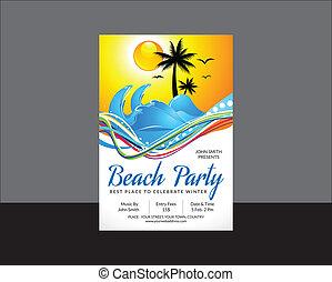 festa, astratto, aviatore, spiaggia