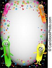 festa, balloon, compleanno, bordo