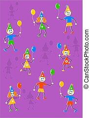 festa, bambini, backgroun