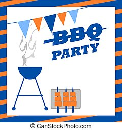 festa, bbq, invito
