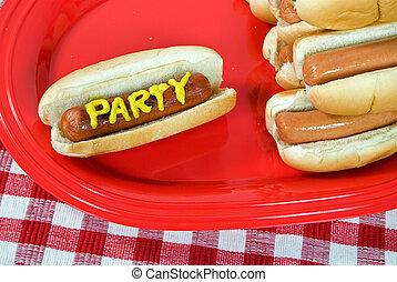 festa, cani caldi