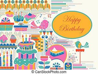 festa, celebrazione, fondo, buon compleanno
