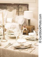 festa, cena, festivo, ringraziamento, tavola