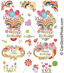 festa, compleanno, augurio