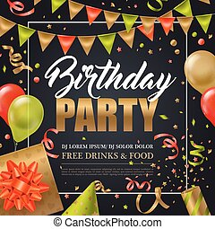 festa compleanno, manifesto