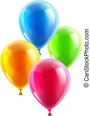 festa, compleanno, palloni, o