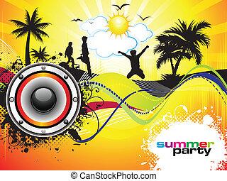 festa, estate, astratto