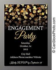 festa, fidanzamento, scheda, invito