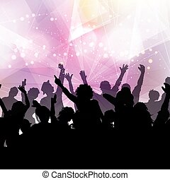 festa, folla, fondo
