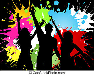 festa, grunge, persone