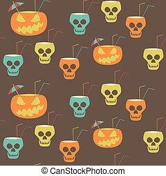 festa, halloween, seamless, modello