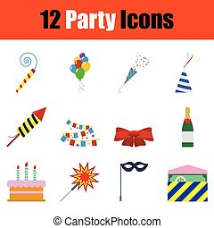 festa, icona, set