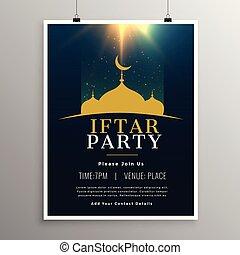 festa, iftar, disegno, sagoma, invito
