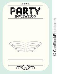 festa, invito