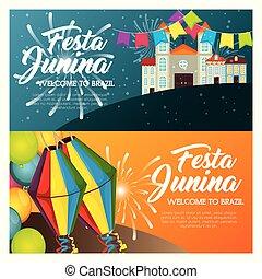 festa, junina, design