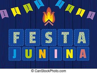 festa, junina, ikona
