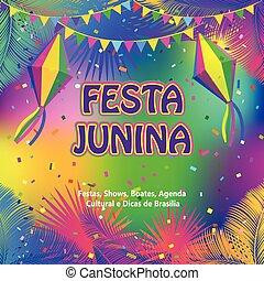festa, junina, masopust, abstraktní, grafické pozadí