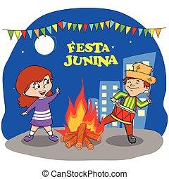 festa, junina, oslava