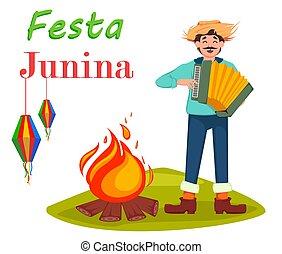 festa, junina, pohled