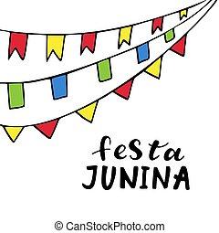 festa, junina., rukopis, nahý