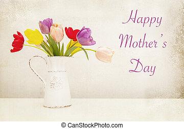 festa mamma, flowers-vintage, elaborazione