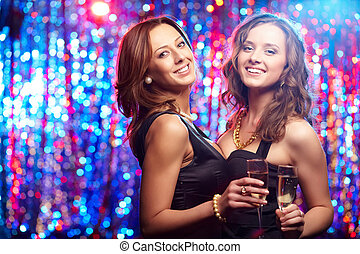 festa, ragazze