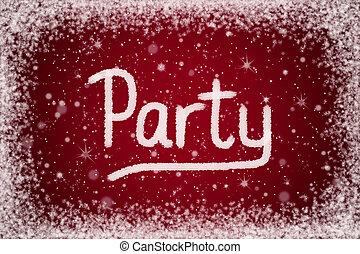 festa, rosso, inverno, fondo, invito