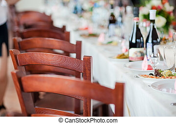 festa, set, evento, tavola