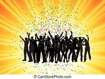 festa, starburst, 2006, fondo, folla