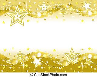 festa, stella, oro, fondo