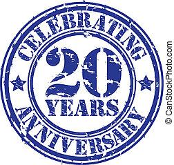 festeggiare, anni, 20, gr, anniversario