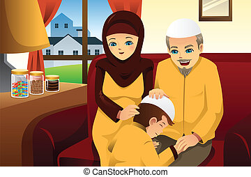 festeggiare, famiglia, eid-al-fitr