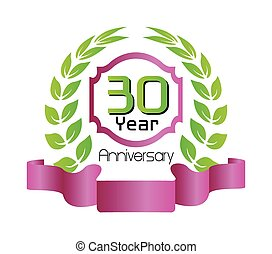 festeggiare, trenta, anni, anniversario
