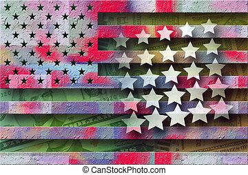 festett, amerika