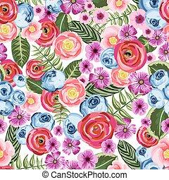 festett, szüret, virág, seamless, motívum