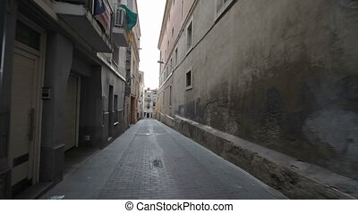 Vilafranca del Penedes Spain, August-September 2015. Annual traditional festival. The streets of the city are waiting for the festival to begin.