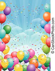 festival background with balloons - Festival background with...