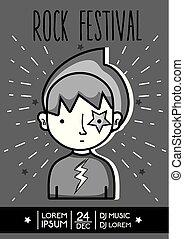 festival, balancer musique, événement, concert