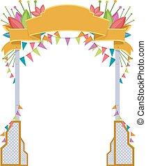festival, bem-vindo, arco