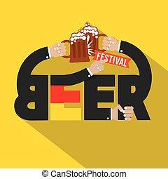 festival, birra, tipografia, design.