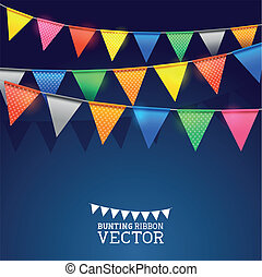 Festival Bunting Ribbons. Vector illustration.