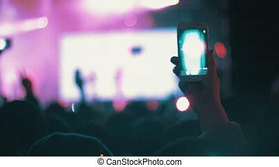 festival, concert musique, foule
