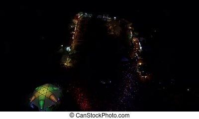festival, concert, zair, nuit, pendant