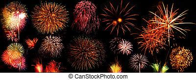 festival, fireworks, colorito
