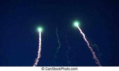 festival fireworks on sky night