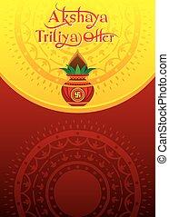 festival, glade, akshaya, religiøs, tritiya