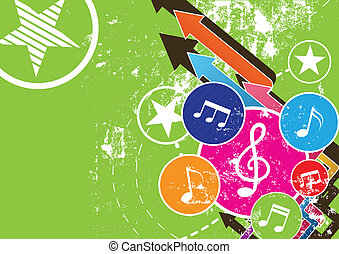 festival,  grunge, Hudba, Grafické Pozadí