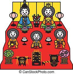 festival, hinamatsuri, dolls'
